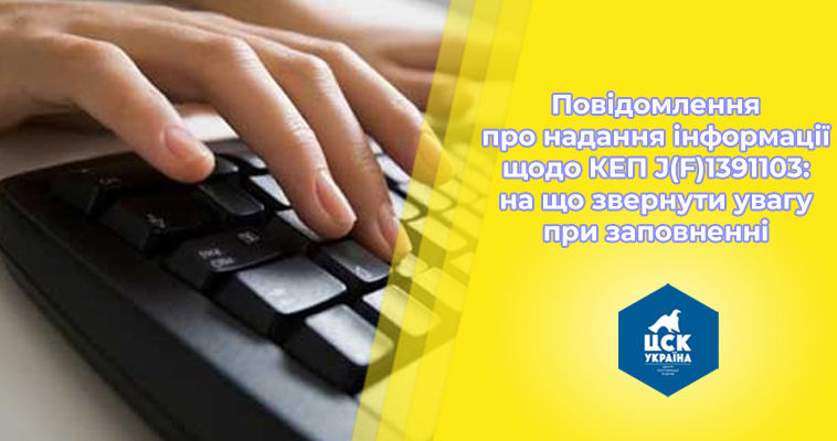 Повідомлення про надання інформації щодо електронного цифрового підпису J(F)1391103: на що звернути увагу при заповненні