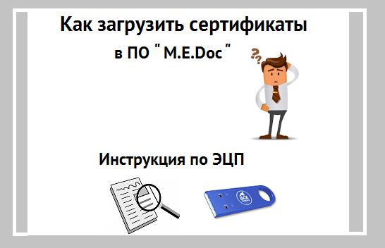 Инструкция: Как загрузить сертификаты в ПО «M.E.Doc»